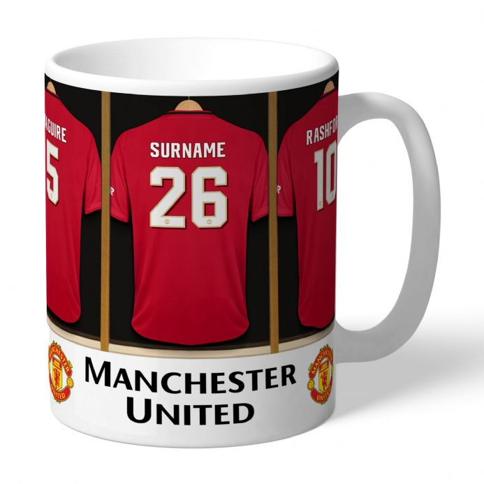 Personalised Manchester United FC Football Dressing Room Mug | Personalised Sports Gifts | The Present Season